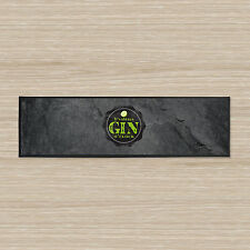 "BAR RUNNER IT'S ALWAYS GIN O'CLOCK SLATE TOWEL LARGE 35"" X 9.5"" PARTIES PUB"