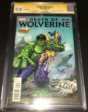 DEATH OF WOLVERINE #1 CGC 9.8 SS~Signed STAN LEE in SILVER~Desert Wind Edition