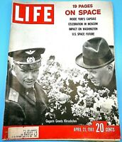 Life Magazine: April 21 1961 Gagarin Greets Khrushchev   Inside Yuri's Capsule