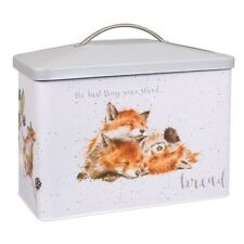 More details for wrendale designs bread bin - bunny and fox the best thing since sliced bread tin