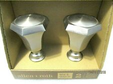 allen + roth 2 Finials Brushed Nickel Finish #0773158