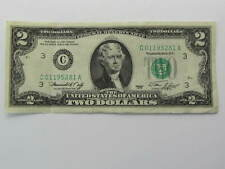 """VINTAGE *RARE* 1976 TWO DOLLAR BILL $2 BILL """"C"""" Mark"""