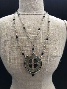 Virgins Saints & Angels San Benito Choker Style Pendant Necklace w/Jet accents