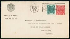 New ListingMayfairstamps Canada 1943 Montreal Compound Stationery Dept of Health Eat Right