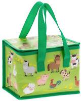 Farmyard Animal Thermal Cool Picnic Food Lunch Bag Box School/Leisure 22x12x16cm