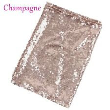 1pc Champagne Gold Silver Sequin Table Runner Cloth Background for Wedding Party Champagne