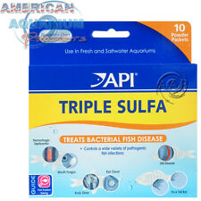 AQUARIUM PHARMACEUTICALS API TRIPLE SULFA POWDER PACKET 10 PACK