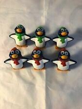 Vintage 1995 Penguin Shuffle Game Replacement Penguins Lot Of 6