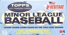 2011 Topps Heritage Minor League Sealed Hobby Box