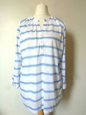 Yours Clothing Volume X Striped T Shirt Top Size 18 BNWT RRP £14.99 White/Blue
