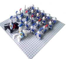 24 Pcs Minifigures DRAGOON Royal Castle Blue Knight Lion Roman Cavalry Lego MOC