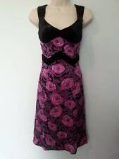 ~Beautiful NANETTE LEPORE Purple Floral Velvet & Silk Cocktail Dress ~ 2