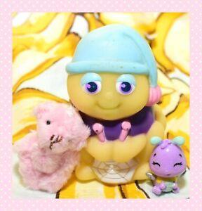 ❤️Vtg Hasbro Playskool Glo Friends SPIDER Glow Bug Worm Knitting Web Figure❤️