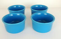 FIESTA Set of 4 Bouillon Custard Cups Prep Bowls Peacock Blue Fiestaware Retired
