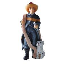 Dollhouse People Poly Resin Figure Fireman Hw3064