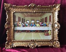 Gemälde 12 Apostel Abendmahl Ikonen Antik Barock look 56x46 cm Religiöse Bilder