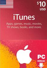 Tarjeta de regalo de iTunes $10 USD clave - $10 Dólar estadounidense Apple Store Usa] [código Tarjeta De Regalo