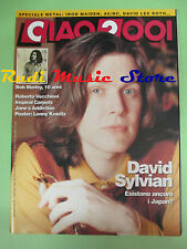 rivista CIAO 2001 19/1991 POSTER Lenny Kravitz Bob Marley David Sylvian  No cd