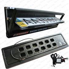 Electric Euro Car Remote Control Turning Flip License Plate Frame Holder Flipper
