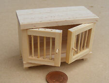 1:12 Scale Natural Finish Wooden Hutch Dolls House Garden Pet Rabbit Accessory