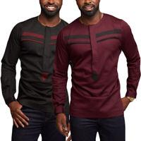 INCERUN Men's African Ethnic Clothing Blouses Dashiki Tops Smart Formal T Shirt