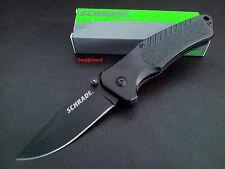 "Schrade 4.5"" Liner Lock Drop Point Blade SCH206 Folding Pocket Knife Hunting EDC"