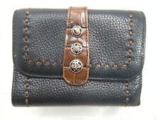 Brighton Clutch Wallet Black Leather Tri fold #JS