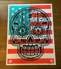 """SHEPARD FAIREY Obey Giant BIAS BY NUMBERS 30th Sticker 6.5/"""" art from poster"""