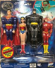 BIG TIME TOYS JLU DEEP SEA DIVE STICKS FIGURE SET! JUSTICE LEAGUE UNLIMITED! MOC