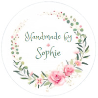 48 Personalised HANDMADE Stickers Labels 40mm