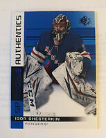 Igor Shesterkin 2019-20 SP Rookie Authentics Blue #104  New York Rangers RC