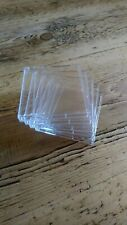 20x Minidisc Jewel Case Rigid Clear Plastic Brand New FREE DELIVERY IN THE U.K.