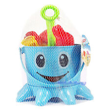 7 Pcs Baby Kids Lovely Octopus Bucket Sand Water Seaside Beach Toy Spade Tools