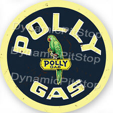 60cm Polly Gas Round Rustic Tin Sign