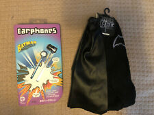 Batman In Ear Headphone Ear Buds DC Comics & Cape Socks