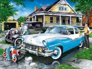 Jigsaw Puzzle Vehicle Car Threee Generations of Ford 400 multisized pieces NEW