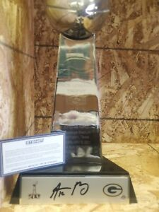 AARON RODGERS AUTOGRAPHED PACKERS SUPER BOWL 45 TROPHY
