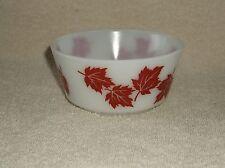 """Hazel Atlas Red Maple Leaf 5"""" Cereal Dessert Bowl"""