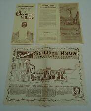 Columbus OH 2 Vintage Booklets German Village & Placemat Schmidt's Restaurant