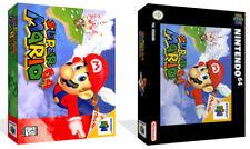 SUPER MARIO NINTENDO 64 N64 di ricambio GAME CASE BOX + SCATOLA copertina opera d'arte
