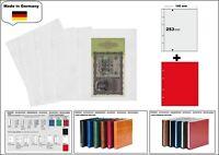 1 LOOK 1-7396-R Banknotenhüllen PREMIUM 1x 190x253mm + rote ZWL Für Banknoten