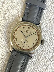 VINTAGE ARISTO AUTOMATIC BUMPER MILITARY 17 Jewels SWISS Fully Serviced Watch