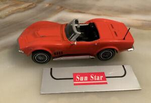 Sun Star orange 1969 Corvette Convertible. 1:43 Die-cast