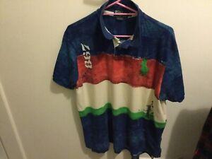 Ralph Lauren Mens Custom Fit Cotton Polo Short Sleeve Polo Shirt XXL