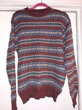 Bruce Caitlyn Jenner Sports in Motion Stripe Argyle Sweater sz lg Pull Over Vtg