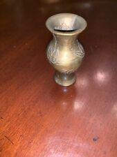 "DOLL HOUSE Miniature Bronze Brass  2 1/4"" FLOWER PEDESTAL VASE Urn"