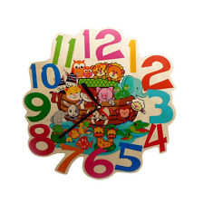 """Hess 30003 Wall Clock """" Colourful Printed Wood Ore Mountain NEW! #"""