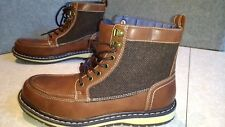 NWT, $90. MSRP, Mens Sonoma Leather Lace Up Ankle Boots