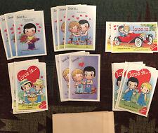 Vintage Love Is Unused 26 Valentine Cards 5 Designs Kim Casali Art