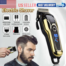 KEMEI Men Electric Hair Clipper LCD Display Shaver Trimmer Hair Removal Haircut